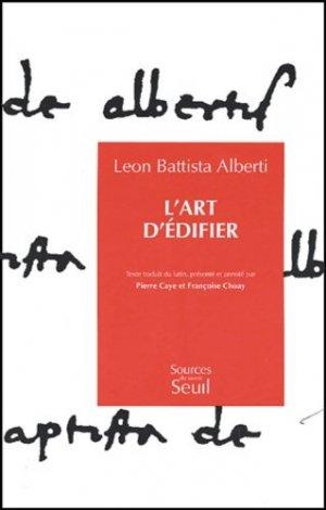 L'Art d'édifier  - du seuil - 9782020121644 -