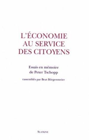 L'économie au service des citoyens - slatkine - 9782051026994 -