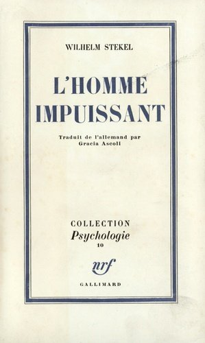 L'homme impuissant - gallimard editions - 9782070260829 -