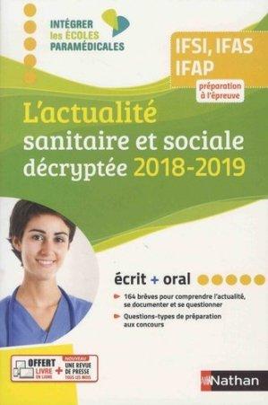 L'actualité sanitaire et sociale décryptée 2018-2019 - nathan - 9782091652351 -