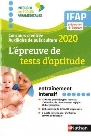 L'épreuve de tests d'aptitude Concours auxiliaire de puériculture IFAP (IEPM) - Nathan - 9782091670065 -