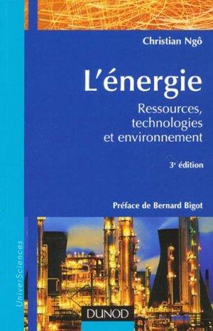 L'énergie - dunod - 9782100515318 -