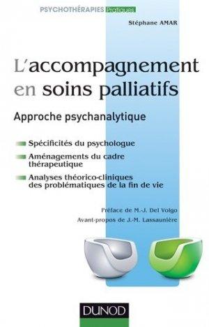 L'accompagnement en soins palliatifs - dunod - 9782100570164