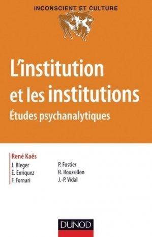 L'institution et les institutions - dunod - 9782100573325 -