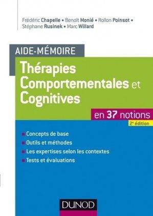 L'Aide-mémoire des thérapies comportementales et cognitives - dunod - 9782100592562