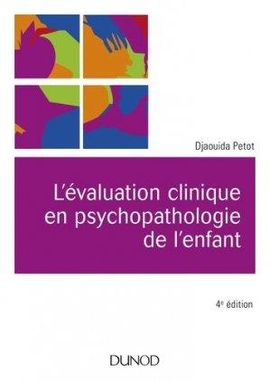 L'évaluation clinique en psychopathologie de l'enfant - dunod - 9782100775613 -