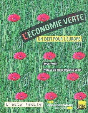 L'Économie verte - la documentation francaise - 9782110075970 -