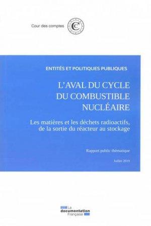 L'aval du cycle du combustible nucléaire - la documentation francaise - 9782111570177 -