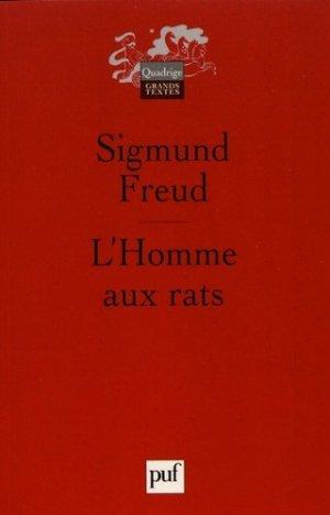 L'homme aux rats. Remarques sur un cas de névrose de contrainte - puf - presses universitaires de france - 9782130546979 -