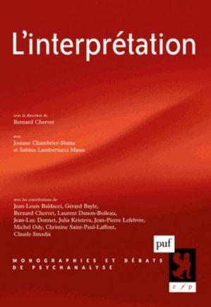 L'interprétation - puf - presses universitaires de france - 9782130594390 -