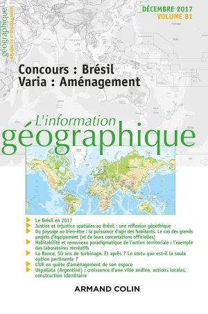 L'Information géographique - armand colin - 9782200931209 -