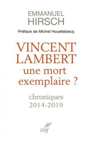 L'affaire Vincent Lambert - Cerf - 9782204139694 -