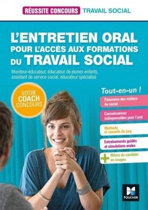 L'entretien oral pour l'accès aux formations du Travail social - foucher - 9782216154821