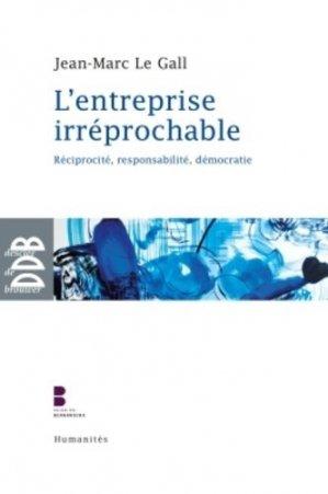 L'entreprise irréprochable - Desclée de Brouwer - 9782220063928 -