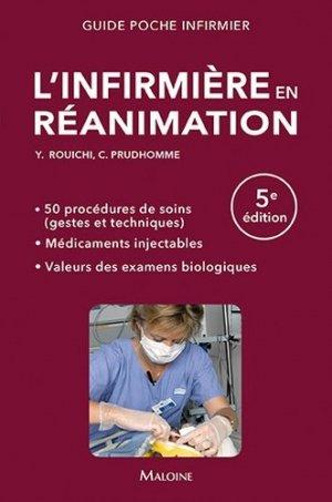 L'infirmière en réanimation - maloine - 9782224035204 -