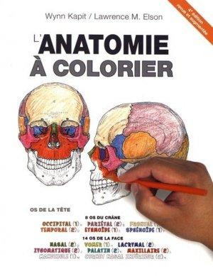 L'anatomie à colorier - maloine - 9782224035457 -