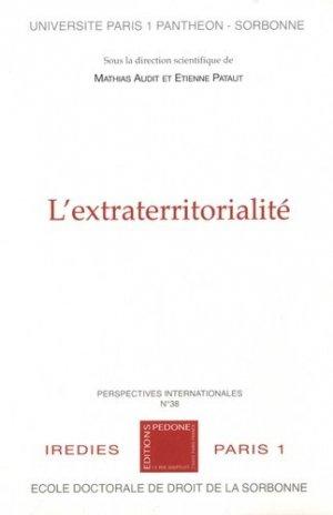 L'extraterritorialité - pedone - 9782233009432 -