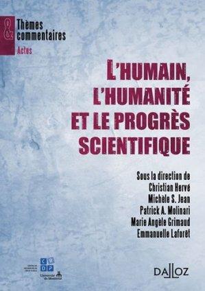 L'Humain, l'Humanité et le progrés scientifique - dalloz - 9782247086221 -