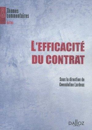 L'Efficacité du contrat - dalloz - 9782247105267 -