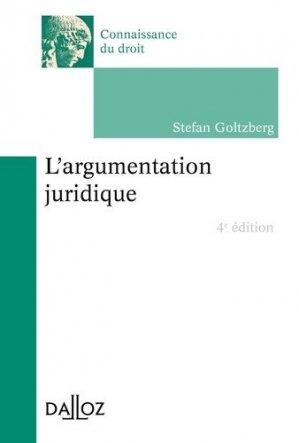 L'argumentation juridique. 4e édition - dalloz - 9782247188765 -