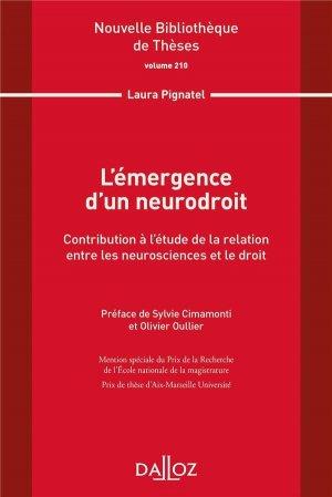L'émergence d'un neurodroit - dalloz - 9782247206384 -