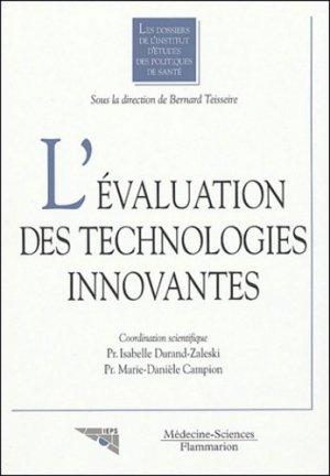 L'évaluation des technologies innovantes - lavoisier msp - 9782257110671 -