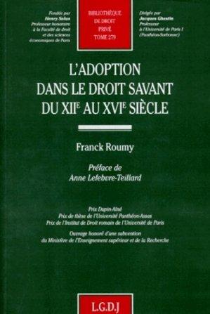 L'adoption dans le droit savant du XIIe au XVIe siècle - LGDJ - 9782275016276 -