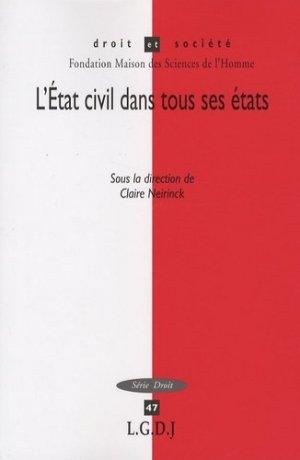 L'Etat civil dans tous ses états - LGDJ - 9782275032436 -