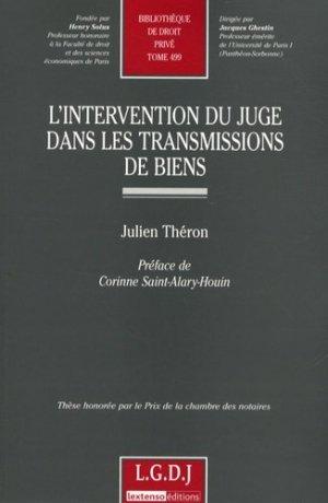 L'intervention du juge dans les transmissions de biens - LGDJ - 9782275033389 -