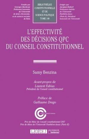 L'effectivité des décisions QPC du Conseil constitutionnel - LGDJ - 9782275058375 -