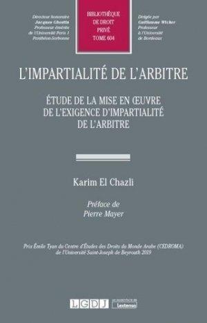 L'impartialité de l'arbitre. Etude de la mise en oeuvre de l'exigence d'impartialité de l'arbitre - LGDJ - 9782275078380 -