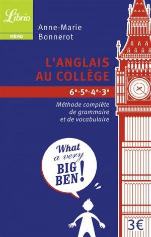 L'anglais au collège - librio - 9782290004692 -