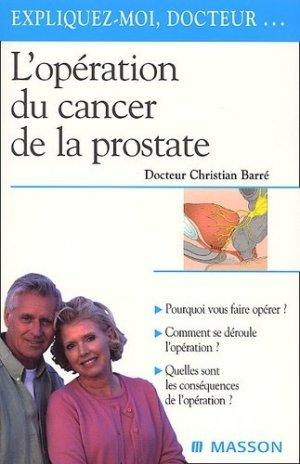 L'opération du cancer de la prostate - elsevier / masson - 9782294009280 -