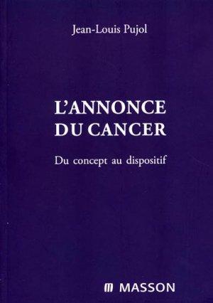 L'annonce du cancer - masson - 9782294097393 -