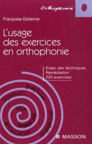 L'usage des exercies en orthophonie - elsevier / masson - 9782294706158