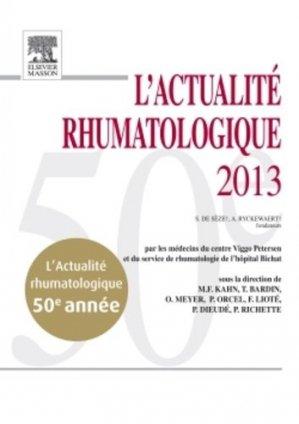 L'Actualité Rhumatologique 2013 - elsevier / masson - 9782294735462 -