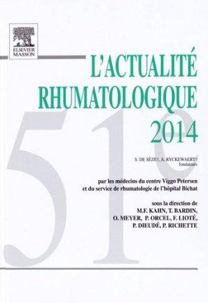 L'actualité rhumatologique 2014 - elsevier / masson - 9782294745249 -