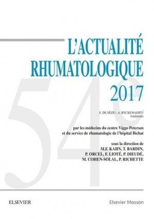 L'actualité rhumatologique 2017 - elsevier / masson - 9782294756474 -