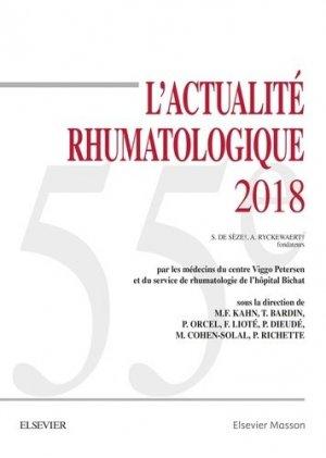 L'actualité rhumatologique 2018 - elsevier / masson - 9782294760969 -
