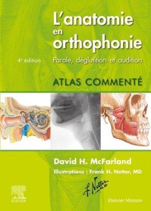 L'anatomie en orthophonie - elsevier / masson - 9782294768187 -