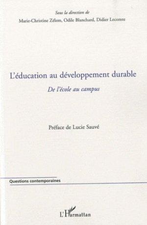L'éducation au développement durable - l'harmattan - 9782296121522 -