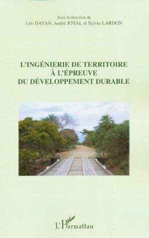 L'ingénierie de territoire à l'épreuve du développement durable - l'harmattan - 9782296137288 -