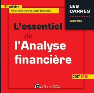 L'essentiel de l'analyse financière - gualino - 9782297060424 -