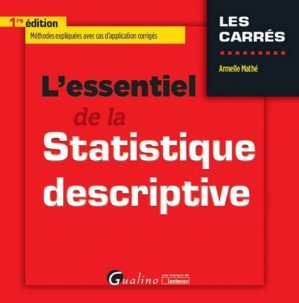 L'essentiel de la Statistique descriptive - gualino - 9782297060622 -