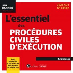 L'essentiel des procédures civiles d'exécution - gualino - 9782297092180 -