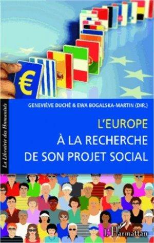 L'Europe à la recherche de son projet social - l'harmattan - 9782336291048 -