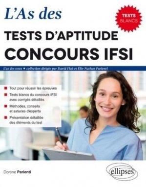 L'as des tests d'aptitude concours IFSI - ellipses - 9782340012509 -