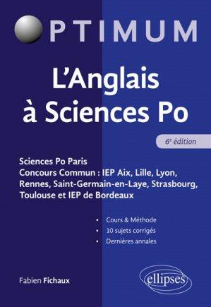 L'anglais  sciences PO - ellipses - 9782340029446 -