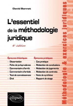 L'essentiel de la méthodologie juridique. 4e édition - Ellipses - 9782340035997 -