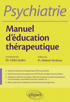 L'éducation thérapeutique en psychiatrie - ellipses - 9782340037854 -